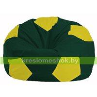 Кресло мешок Мяч тёмно-зелёный - жёлтый М 1.1-65