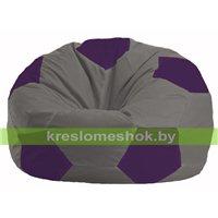 Кресло мешок Мяч серый - фиолетовый М 1.1-352