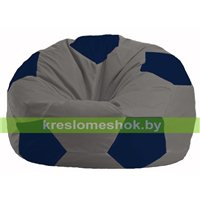 Кресло мешок Мяч серый - тёмно-синий М 1.1-347