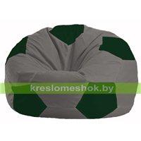 Кресло мешок Мяч серый - тёмно-зелёный М 1.1-349