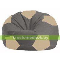 Кресло мешок Мяч серый - светло-бежевый М 1.1-344