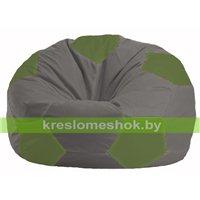 Кресло мешок Мяч серый - оливковый М 1.1-341