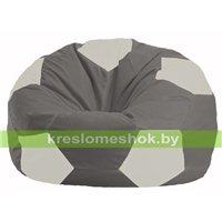Кресло мешок Мяч серый - белый М 1.1-334