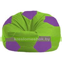 Кресло мешок Мяч салатово - сиреневое 1.1-158