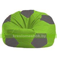 Кресло мешок Мяч салатово - светло-серое 1.1-160