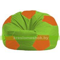 Кресло мешок Мяч салатово - оранжевое 1.1-163