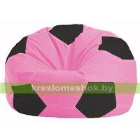 Кресло мешок Мяч розовый - чёрный М 1.1-188