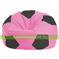 Кресло мешок Мяч розовый - тёмно-серый М 1.1-187