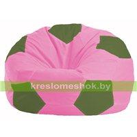 Кресло мешок Мяч розовый - тёмно-оливковый М 1.1-198