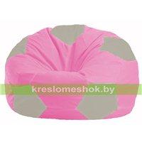 Кресло мешок Мяч розовый - светло-серый М 1.1-205