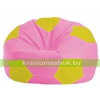 Кресло мешок Мяч розовый - жёлтый М 1.1-201