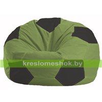 Кресло мешок Мяч оливковый - чёрный М 1.1-460