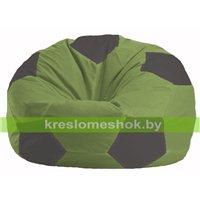 Кресло мешок Мяч оливковый - тёмно-серый М 1.1-459