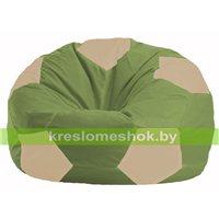 Кресло мешок Мяч оливковый - светло-бежевый М 1.1-223