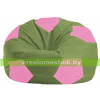 Кресло мешок Мяч оливковый - розовый М 1.1-226