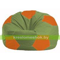 Кресло мешок Мяч оливковый - оранжевый М 1.1-227