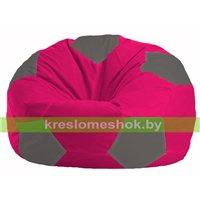 Кресло мешок Мяч малиновый - тёмно-серый М 1.1-379