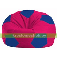 Кресло мешок Мяч малиновый - синий М 1.1-375