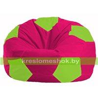 Кресло мешок Мяч малиновый - салатовый М 1.1-390