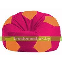 Кресло мешок Мяч малиновый - оранжевый М 1.1-388