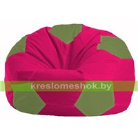 Кресло мешок Мяч малиновый - оливковый М 1.1-387