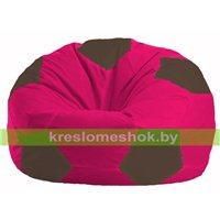 Кресло мешок Мяч малиновый - коричневый М 1.1-372