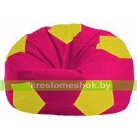 Кресло мешок Мяч малиновый - жёлтый М 1.1-386