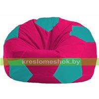 Кресло мешок Мяч малиновый - бирюзовый М 1.1-383
