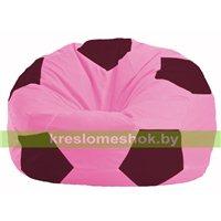 Кресло мешок Мяч розовый - бордовый М 1.1-203