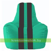 Кресло-мешок Спортинг бирюзовый - чёрный С1.1-283