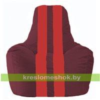 Кресло-мешок Спортинг бордовый - красный С1.1-308
