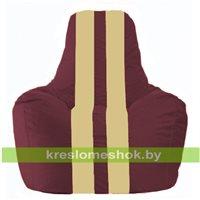 Кресло-мешок Спортинг бордовый - светло-бежевый С1.1-304