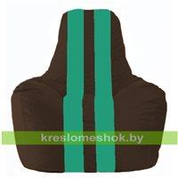 Кресло-мешок Спортинг коричневый - бирюзовый С1.1-317