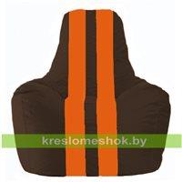 Кресло-мешок Спортинг коричневый - оранжевый С1.1-324
