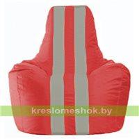 Кресло-мешок Спортинг красный - серый С1.1-173