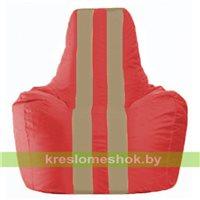 Кресло-мешок Спортинг красный - тёмно-бежевый С1.1-171