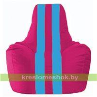 Кресло-мешок Спортинг лиловый - голубой С1.1-385
