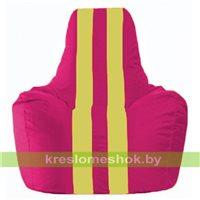 Кресло-мешок Спортинг лиловый - жёлтый С1.1-386