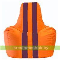 Кресло-мешок Спортинг оранжевый - бордовый С1.1-222