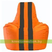 Кресло-мешок Спортинг оранжевый - чёрный С1.1-600