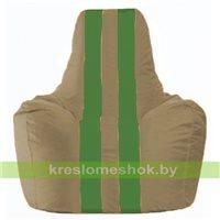 Кресло мешок Спортинг бежевый - зелёный С1.1-94