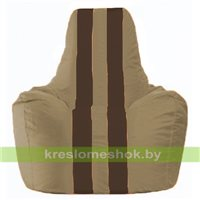 Кресло мешок Спортинг бежевый - коричневый С1.1-93