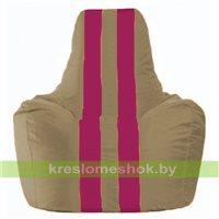 Кресло мешок Спортинг бежевый - лиловый С1.1-78