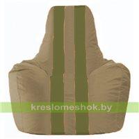 Кресло мешок Спортинг бежевый - оливковый С1.1-91