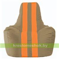 Кресло мешок Спортинг бежевый - оранжевый С1.1-90