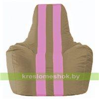 Кресло мешок Спортинг бежевый - розовый С1.1-94