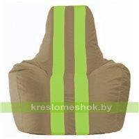 Кресло мешок Спортинг бежевый - салатовый С1.1-88