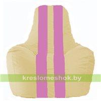 Кресло мешок Спортинг светло-бежевый - розовый С1.1-142