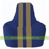 Кресло мешок Спортинг синий - бежевый С1.1-114