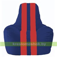 Кресло мешок Спортинг синий - красный С1.1-122